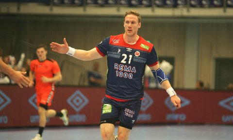 BÆREBJELKE: Betsson mener Magnus Gullerud må lykkes for at Norge skal oppnå suksess i det kommende verdensmesterskapet i håndball.