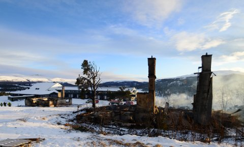 Slilk så det ut etter brannen på Rondablikk i januar 2017.