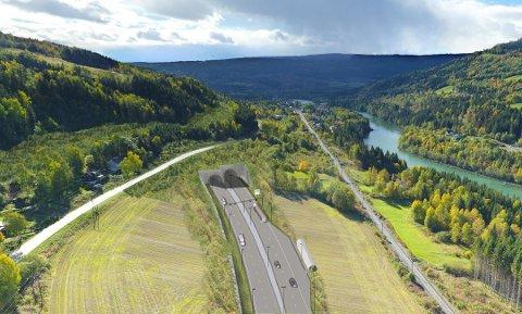 Nye Veier foreslår ny løsning for E6-tunnelen forbi Fåberg, med munningen i nord på utsida av dagens E6. Fylkesmannen sier nei.