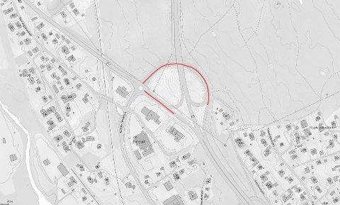 VED ESSO: Av- og påkjøringen ved Esso på Jaren skal få ny asfalt.