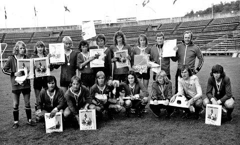 KLUBBLEGENDER: TTIFs juniorlag i 1973, som like godt vant Norway Cup.