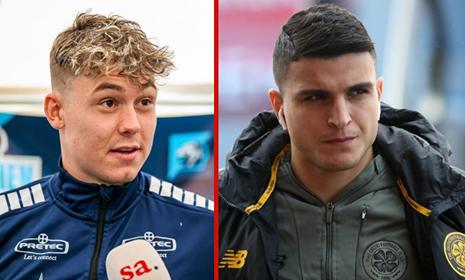 STORT HJERTE: Jørgen Strand Larsen og Mohamed Elyounoussi valgte begge å skrive nye langtidskontrakter med Sarpsborg 08, som har gitt klubben store inntekter.