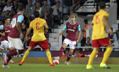 «BACK IN ACTION»: Martin Samuelsen har spilt de to siste kampene til West Hams U21-lag.