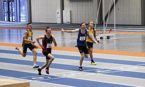 VANT: Sander Konradsen løper inn til seier på 60m med tiden 7.72.