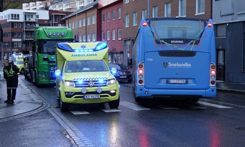 RYKKET UT: Både politiet og ambulanse rykket ut til stedet.