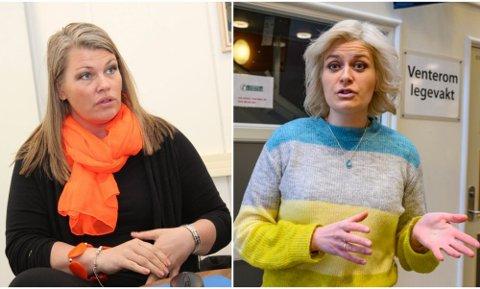 Kommuneoverlege Kirsten Toft i Alstahaug (t.v.) og kommuneoverlege Hege Harboe-Sjåvik i Vefsn er bekymret for eventuelle utbrudd av muterte virus.