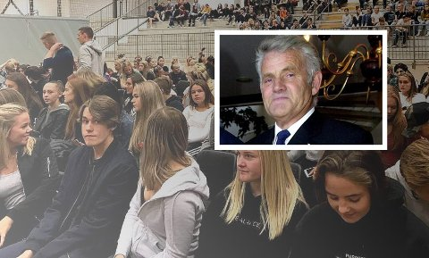 BØR IKKE FLYTTES: Tidligere rektor Jan Kuvaas mener Holmestrands videregående skole fortsatt bør ligge der den gjør.