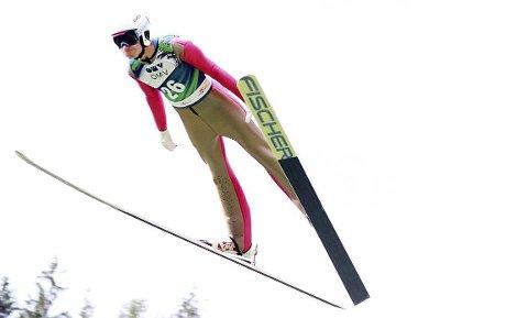 I god hoppform: Ole Kristian Baarset har hoppet meget bra på trening i det siste og er i sitt livs form foran junior-VM i nordiske grener i tyske Oberwiesenthal fra 29. februar til 8. mars. Foto: Privat