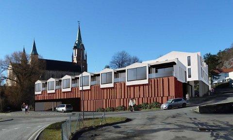 Dette er førsteutkastet av bygget i Fermannsbakken.