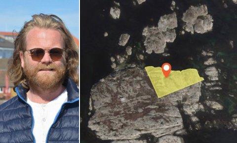 Eiendommen som er kjøpt for 12 millioner kroner av Christian Hestenes ligger på Styrmannsholmen, ikke langt fra Portør havn. Foto: Per Eckholdt / Norgeskart