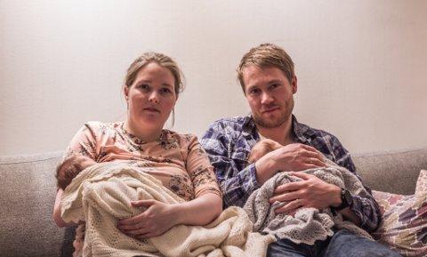 MÅTTE LANGT: Therese Aamodt og Kjetil Aamodt måtte til Bodø for at tvillingene Marius og Magnus skulle kunne komme til verden på et kvalifisert sykehus, da UNN i Tromsø var fullt.