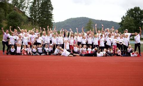 DOBBLING: Årets deltakerantall var i år nesten det dobbelte av fjordårets oppstart, med hele 73 deltakere mellom seks til fjorten år.