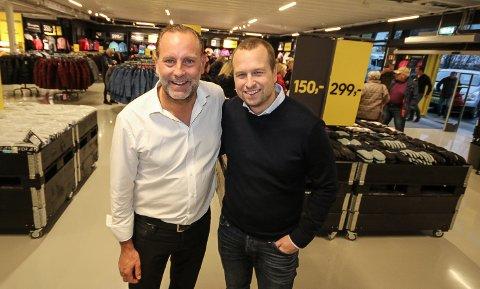 SATSER TUNGT: - Vi går tungt inn i Norge med vårt outlet-konsept, sier konsernsjef i Stadium Kalle Ekløf (t.v.) og general manager for Stadium Outlet, Daniel Løfkvist.
