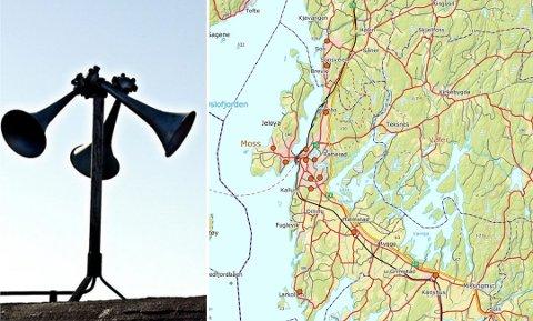 I Moss har Sivilforsvaret 11 tyfoner som skal sørge for at befolkningen blir varslet.