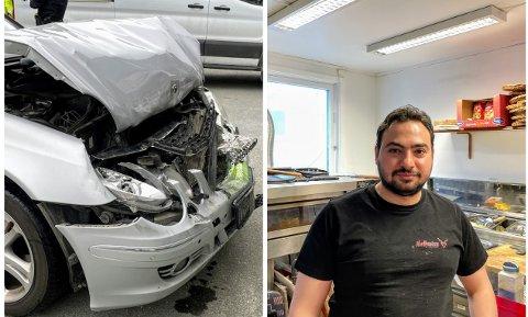 HJALP: Bilal Arafa var en av de første på ulykkesstedet og fikk hjulpet de involverte.