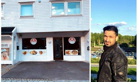 RESTAURANT: Kamiran Fares utested skal servere drinker og pizza, og han er sikker på at det kommer til å bli en braksuksess.