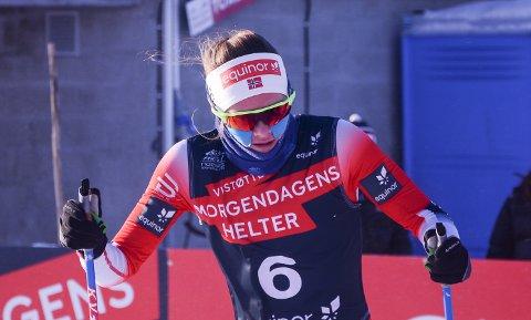 Mathilde Myhrvold tok en sterk fjerdeplass i Gålåsprinten lørdag.
