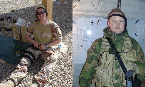 VETERANER: Anders Leirdal (33) (sittende) og Marius Hilsen (38) er glade for at veterandagen markeres.