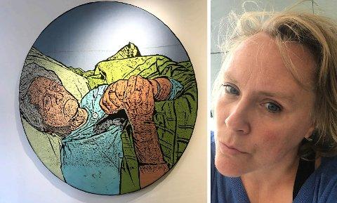 VÆR MEG NÆR: Nasjonalmuseet har kjøpt inn dette bildet av tekstilkunstner Ingrunn Oddny Myrland fra Fall i Søndre Land. Verket har tittelen «Vær meg nær».