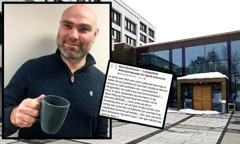 KAFFEPRAT: kommunestyrepolitiker Erlend Gjølme har fått nok av debattklimaet på Facebook. Han inviterte meningsmotstander til å ta en kaffe istedet.