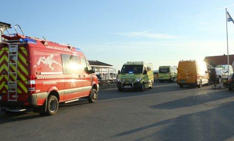 BÅTULYKKE: Alle nødetatene rykket ut da det kom melding om en båtulykke utenfor Helgeroa fredag kveld.