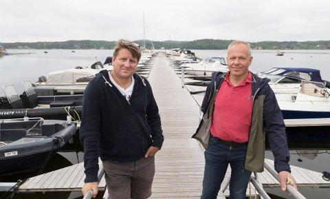 Øyvind Syversen (t.v.) og Magne Bakken i Buerstad Båtforening med 87 båtplasser.