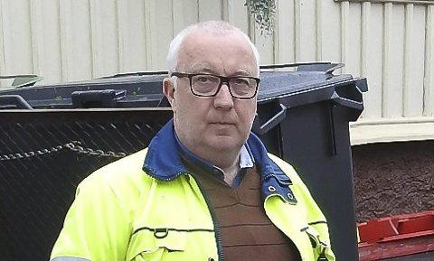 FORNØYD: Bjørn Salvesen er driftsleder i kommunalteknikk.