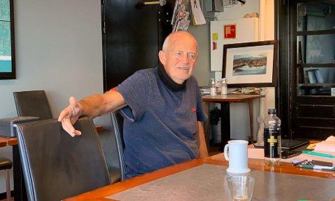 GA OPP: Kafe K-eier Ragnar Sande meldte oppbud etter lang tid med økonomiske utfordringer.