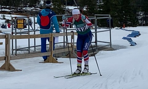 Andrine Bjørkmo leverte to knallsterke løp i norgescupen i skiskyting denne helga.
