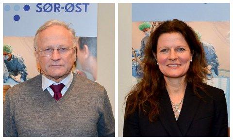 HAR SENDT UT HØRINGSBREV: Helse Sør-Øst. Her styreleder Svein Gjedrem og administrerende direktør Cathrine M. Lofthus.