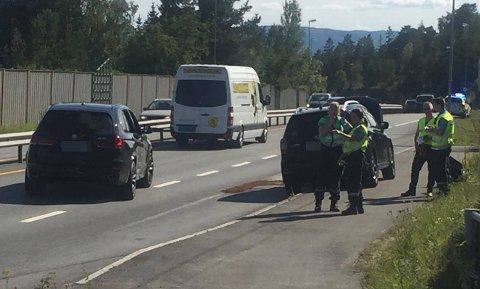 Ulykken har skjedd ved bussholdeplassen ikke så langt fra avkjøringen til Steinsåsen.
