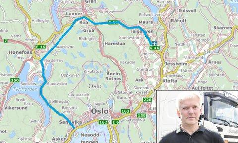 Deler av denne traseen er bygd, eller påbegynt. Bare litt står igjen før man har en  gjennomgående god standard med tanke på trafikkflyt utenom Oslo, påpeker Harry Nilsen.