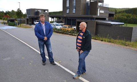 KONKURS: Liverud Eiendom AS gikk konkurs i 2014. Eiere var Ronny Thomassen (t.v.) og Johan Engen. De venter fortsatt på at konkursen skal avsluttes.Arkivfoto