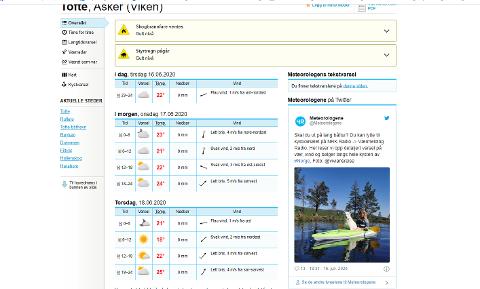 VARMEREKORD: Klokka 15 tirsdag var Tofte varmest i landet med 29,2 grader. ifølge Meteorologisk institutt.
