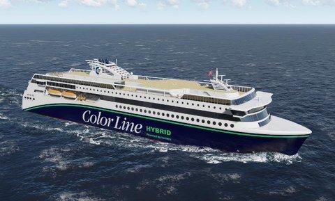 ERSTATTER M/S BOHUS: Nye «Color Hybrid» skal etter planen settes inn i trafikk sommeren 2019. Illustrasjon: Color Line
