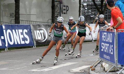 TREDJEPLASS: Ingrid Bergene Aabrekk fra Runar ble nummer tre i sprinten i Sandnes.