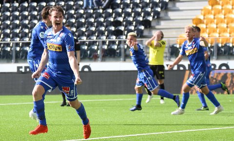 Marius Høibråten sørget for at SF fikk med seg et poeng borte mot Start med sin scoring dypt inne i overtiden.