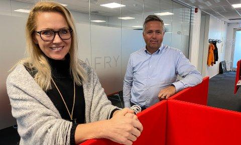 HODEJEGER: Sarpsborg-bedriften Afry, som ledes av Jon Julsen, har ansatt hodejeger. Nina Katinka Fredriksen startet opp i august.