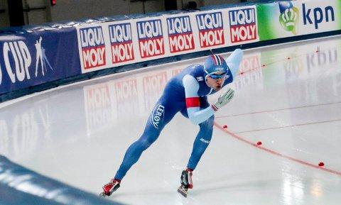 NUMMER 14: Jørgen Sæves gikk inn til 14. plass i B-gruppa på dagens 500 meter i verdenscupen i Erfurt. Tiden ble 36,10, noe som er 17 hundredeler bak tiden han gikk på i EM i Kolomna for to helger siden.