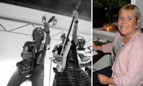 DRAR IGANG: Ann-Kristin Sæther vil samle inn penger til Catosenteret og Sunnaasstiftelsen. Loveshack blir blant bandene som spiller på konserten på kvelden.