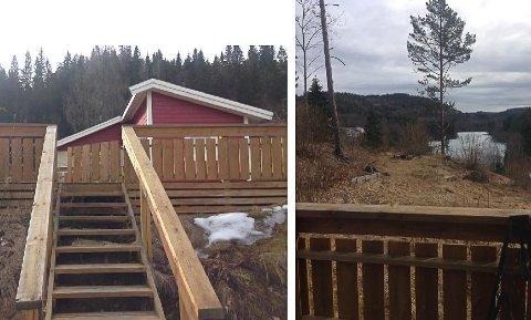 IKKE GODKJENT: Familien kjøpte hytta på 33,5 kvadratmeter i Kjose for et par år siden, og  oppdaget snart at den ikke var registrert i Porsgrunn kommune.