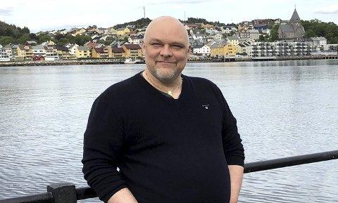 Spent på valget: Stig Anders Stensvik Ohrvik står i bresjen for Nordmørslista som stiller til valg for aller første gang i Kristiansund.