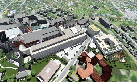 I RUTE: Tønsbergprosjektet, som er det nye sykehusbygget, er i rute for de første pasientene i oktober.