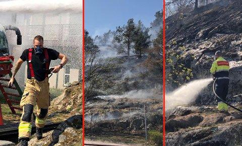 STOR INNSATS: Brannvesenet jobebt på spreng med å få kontroll over flammene.