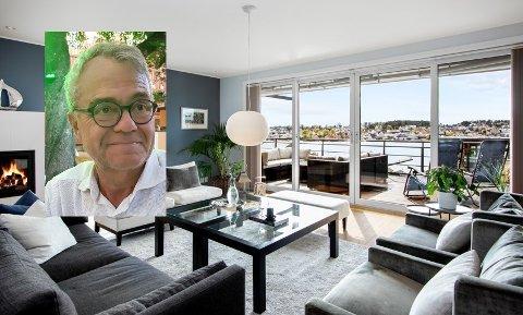PRISVEKT: Kjell Vidar Berntsen har vært heldig med priveksten på leiligheten. Prisen steg med i overkant av åtte millioner.