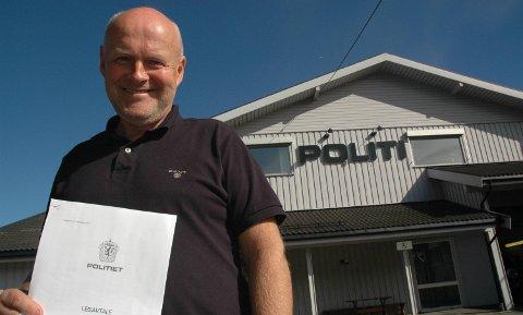 Huset Politiet I Mange år: Kjell Lunde har leid ut dette bygget til lensmannskontoret siden 2006. Arkivfoto