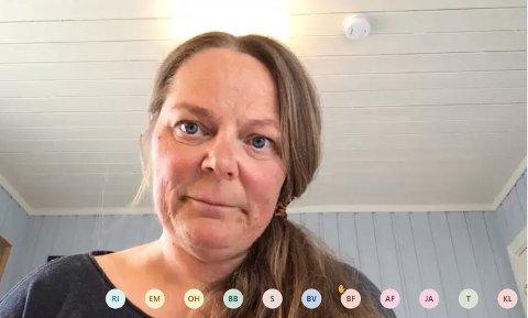 Leia møtet: Alice Gudheim (V) er leiar av kontrollutvalet i Øystre Slidre. Ho leia møtet tysdag.