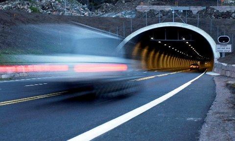 UENDRET:Fartsgrensa i Hagantunnelen har vært 70 kilometer i timen siden tunnelen åpnet høsten 2003.