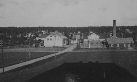 Ås sentrum på 1920-tallet.