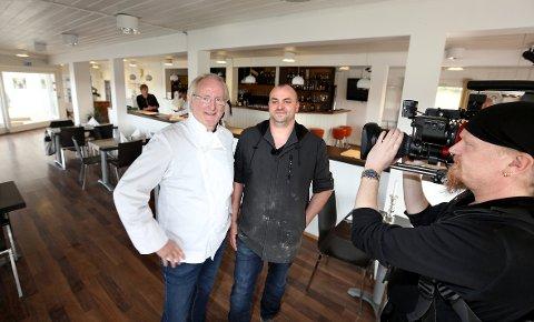 RYDDET OPP: Stian Borch-Gjetsjø har fått hjelp av Eyvind Hellstrøm til å fornye Sherryhaugen Gastrobar.